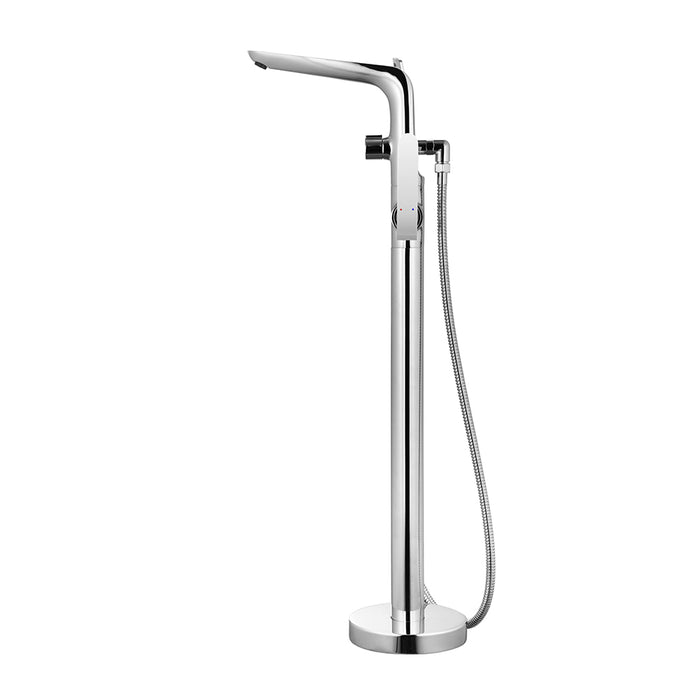 Freestanding Polished Chrome Bathtub Faucet with Showerhead H-120-TFMSHCH