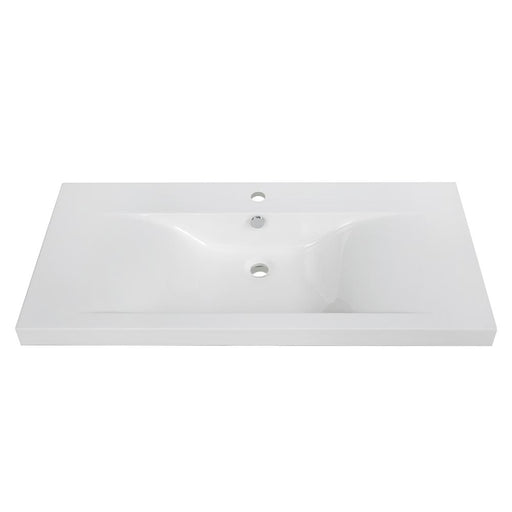 "40"" Solid Surface Resin Streamline K-098-SLSITRC-40 Vanity Top"