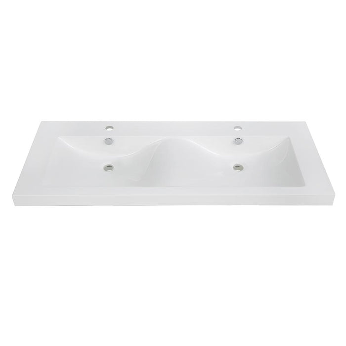 "48"" Solid Surface Resin Streamline K-098-SLSITRC-48 Vanity Top"