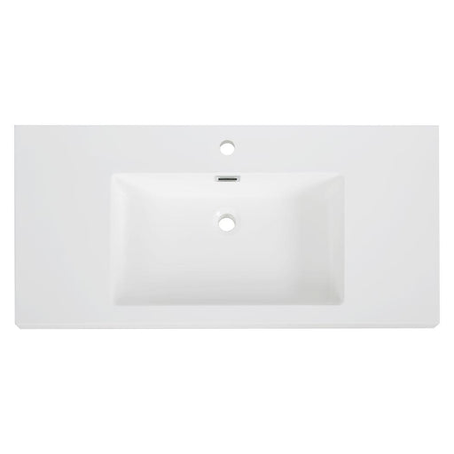 "40"" Solid Surface Resin Streamline K-140-SLSITRC-40 Vanity Top"