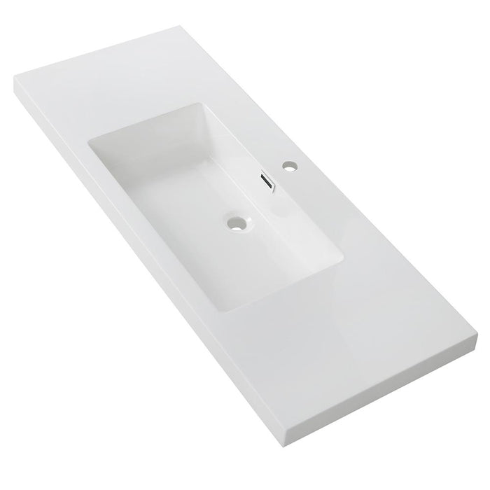"48"" Solid Surface Resin Streamline K-140-SLSITRC-48 Vanity Top"