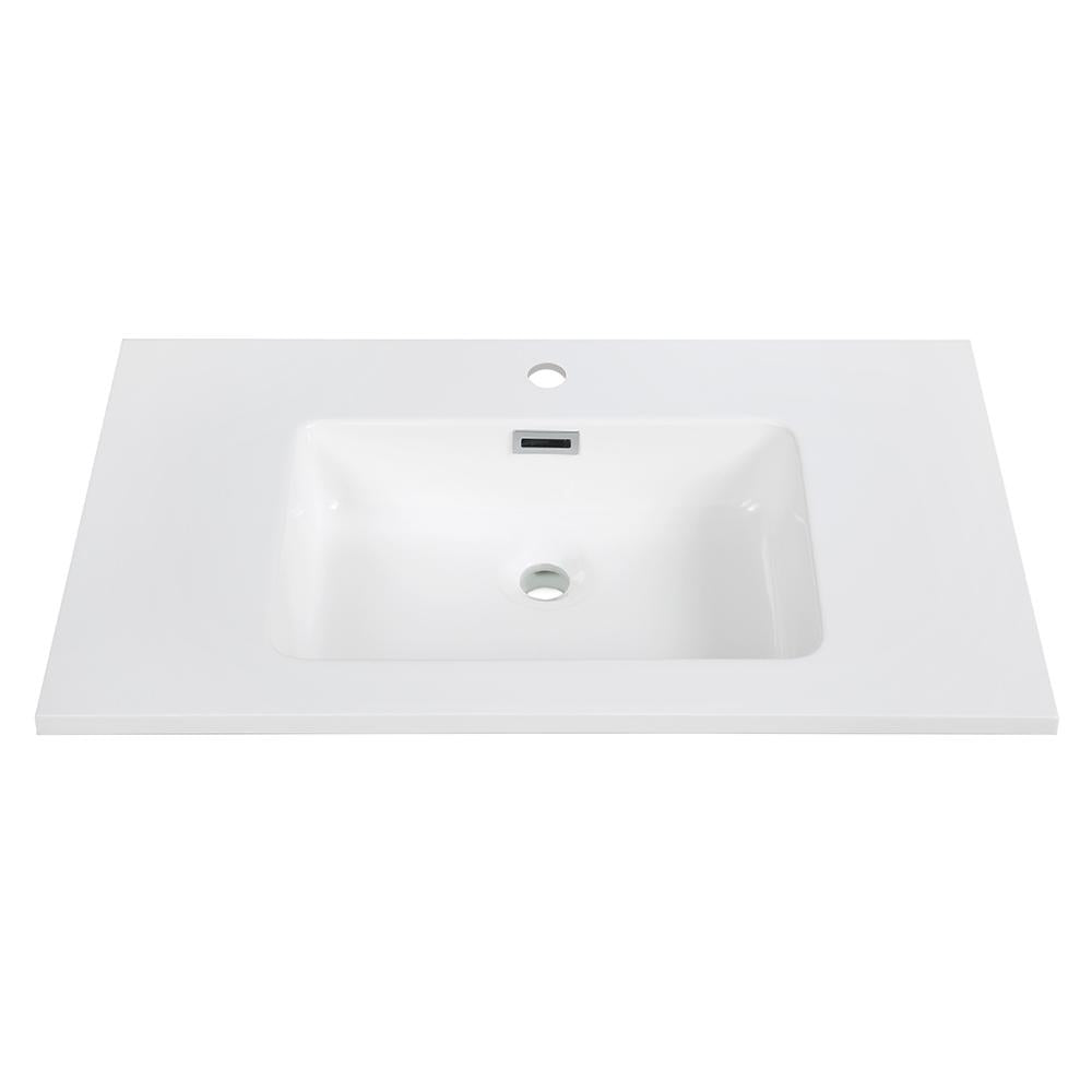 "32"" Solid Surface Resin Streamline K-161-SLSITRC-32 Vanity Top"
