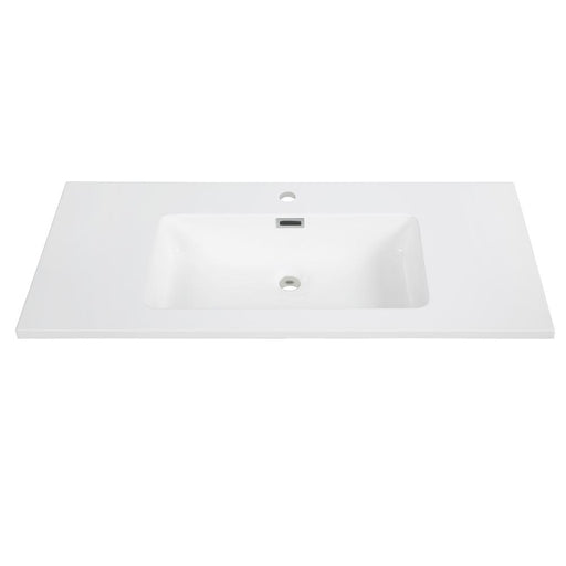 "40"" Solid Surface Resin Streamline K-161-SLSITRC-40 Vanity Top"