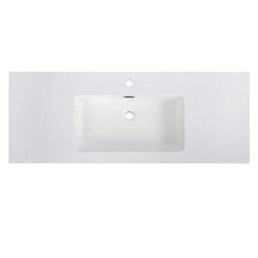 "48"" Solid Surface Resin Streamline K-161-SLSITRC-48 Vanity Top"
