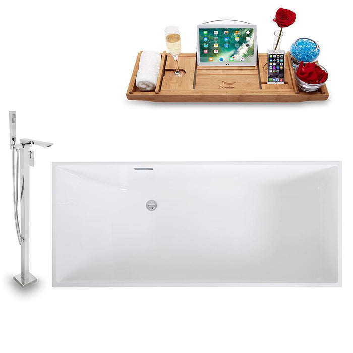 Tub, Faucet, and Tray Set Streamline 67'' Freestanding KH1006-140