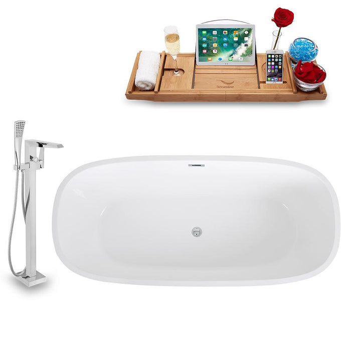 Tub, Faucet, and Tray Set Streamline 67'' Freestanding KH1486-100