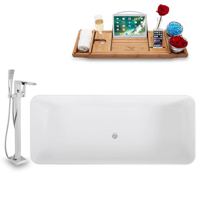 Tub, Faucet, and Tray Set Streamline 67'' Freestanding KH1580-100