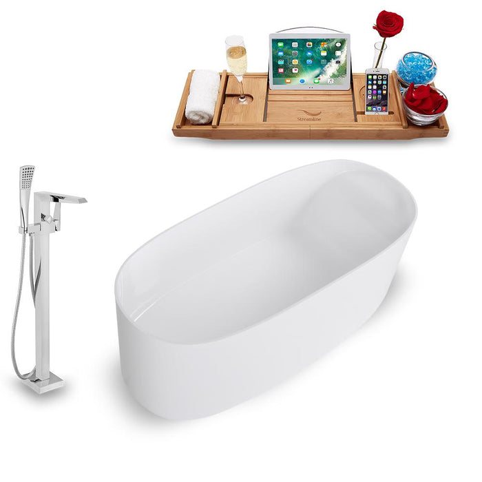 Tub, Faucet, and Tray Set Streamline 63'' Freestanding KH1681-100