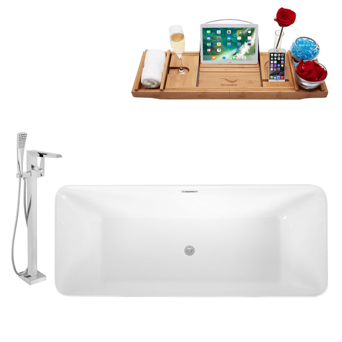 "Tub, Faucet and Tray Set Streamline 67"" Freestanding KH81-100"