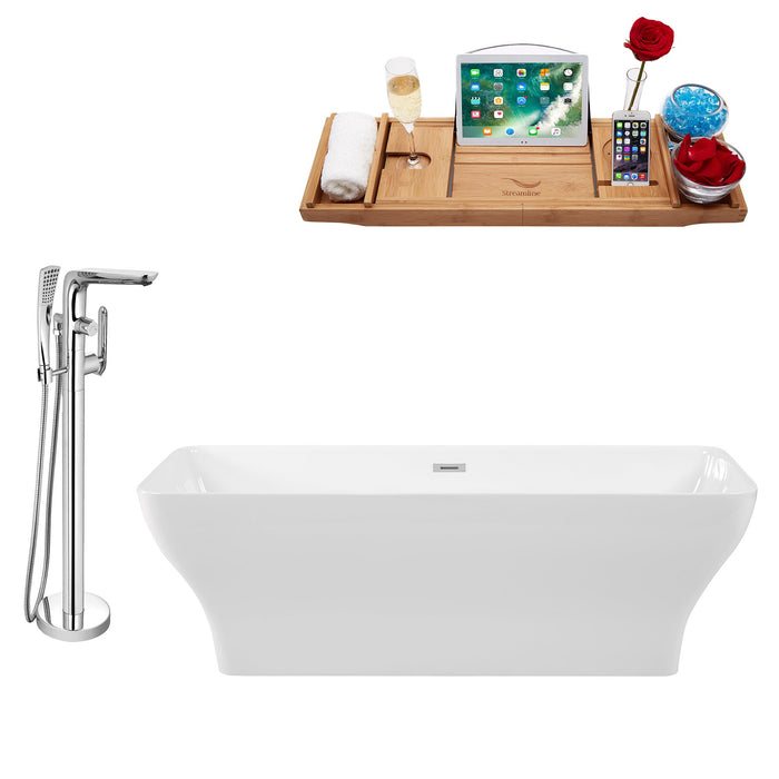 "Tub, Faucet and Tray Set Streamline 67"" Freestanding KH81-120"