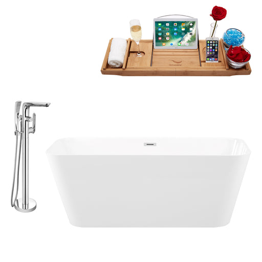 "Tub, Faucet and Tray Set Streamline 59"" Freestanding KH82-120"