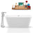 Tub, Faucet, and Tray Set Streamline 67'' Freestanding KH822-120