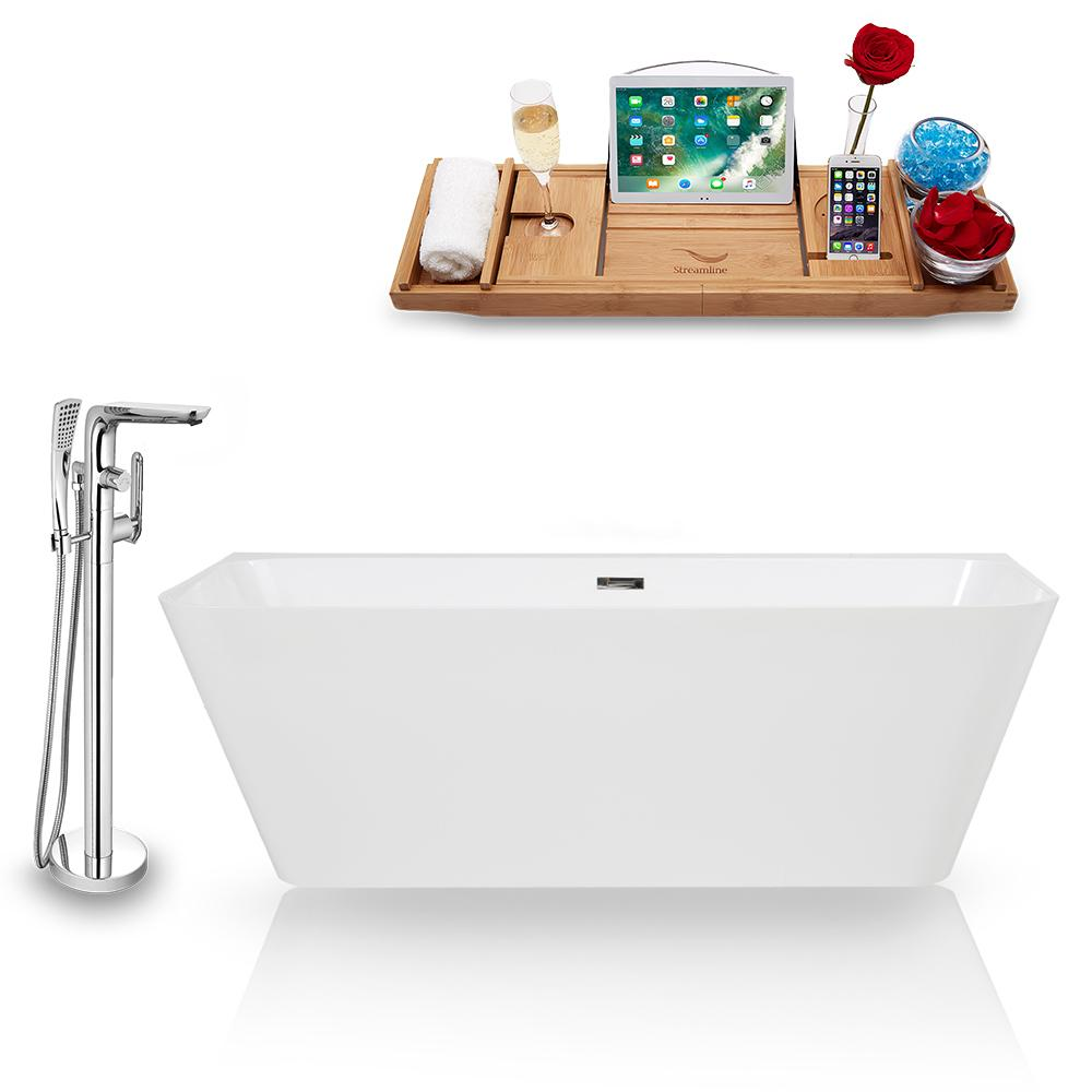 Tub, Faucet, and Tray Set Streamline 67'' Freestanding KH85-120