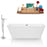 Tub, Faucet, and Tray Set Streamline 67'' Freestanding KH85-140