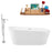 "Tub, Faucet and Tray Set Streamline 67"" Freestanding KH89-140"