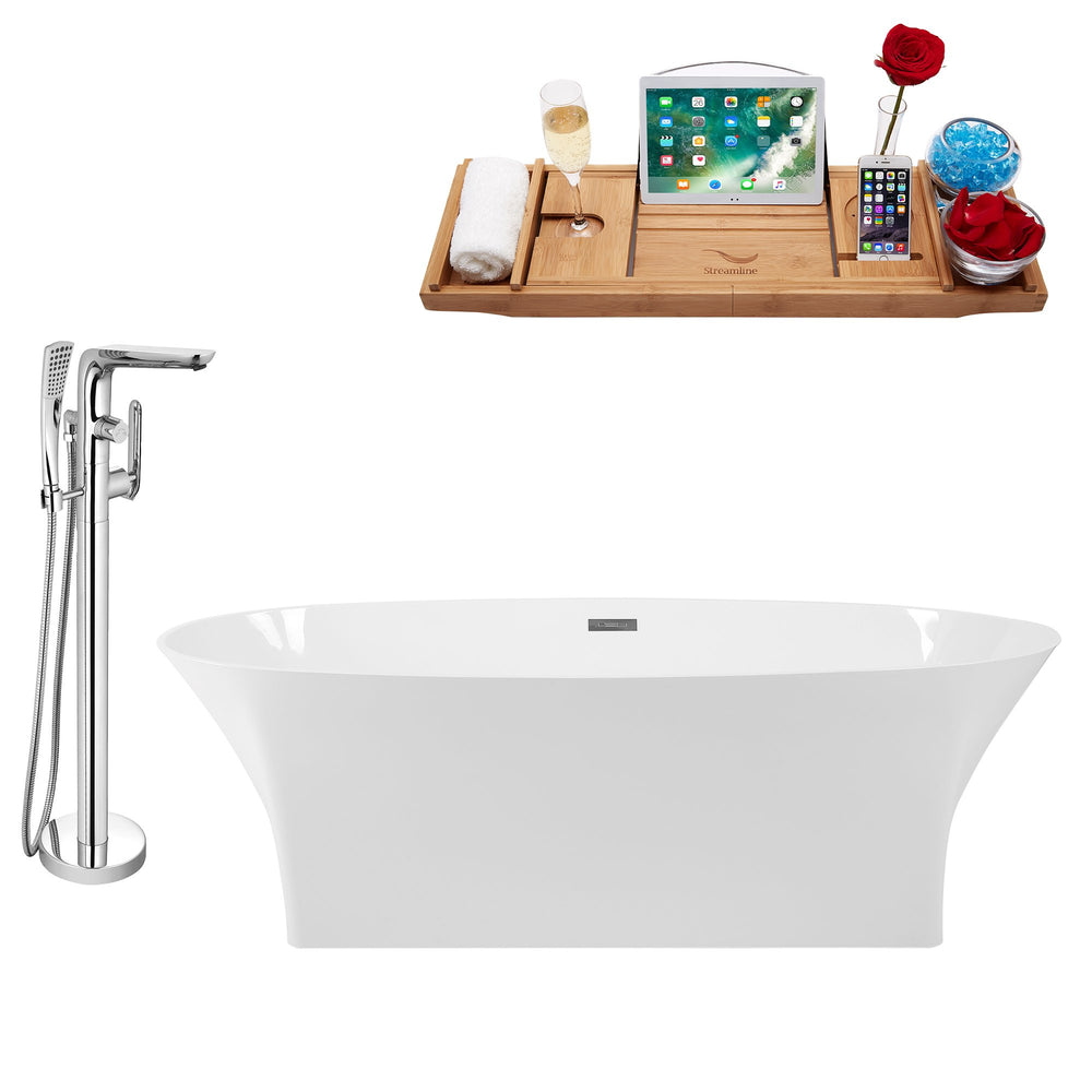 "Tub, Faucet and Tray Set Streamline 67"" Freestanding KH92-120"