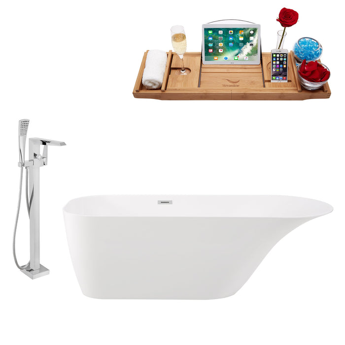 "Tub, Faucet and Tray Set Streamline 67"" Freestanding KH93-100"