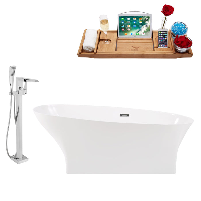 "Tub, Faucet and Tray Set Streamline 67"" Freestanding KH95-100"