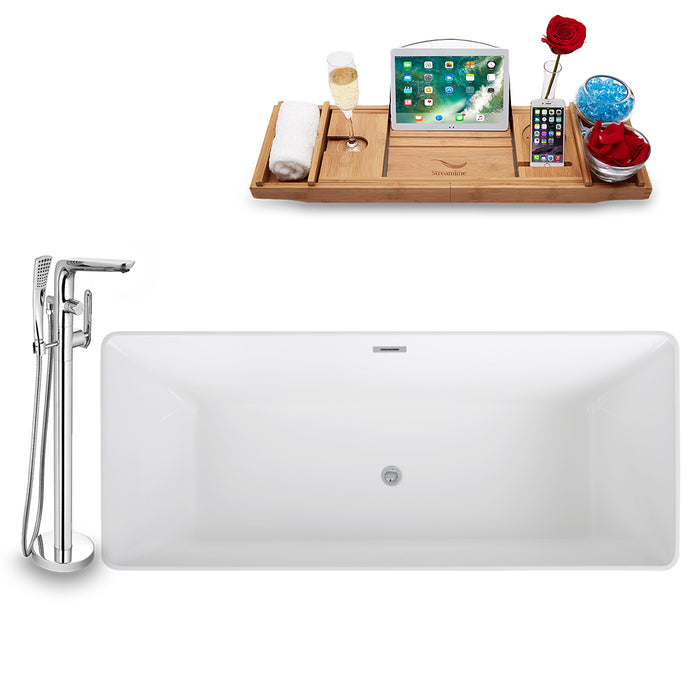 Tub, Faucet, and Tray Set Streamline 67'' Freestanding KH97-120