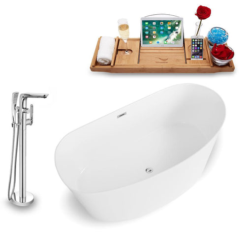 Tub, Faucet, and Tray Set Streamline 67'' Freestanding KH98-120
