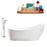 "Tub, Faucet and Tray Set Streamline 68"" Freestanding MH2140-100"