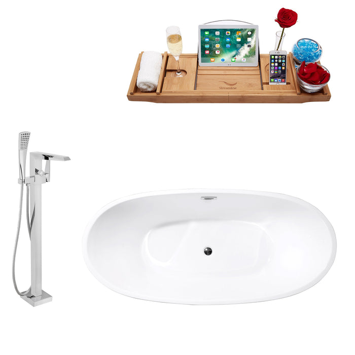 "Tub, Faucet and Tray Set Streamline 67"" Freestanding MH2360-100"
