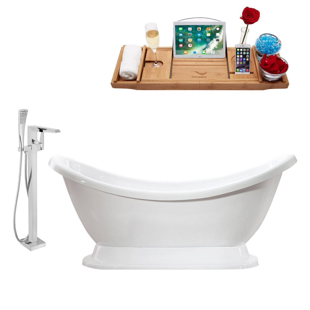 "Tub, Faucet and Tray Set Streamline 69"" Freestanding MH2380-100"