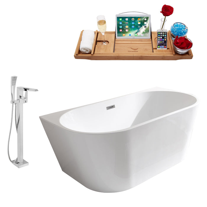 "Tub, Faucet and Tray Set Streamline 59"" Freestanding MH2420-100"