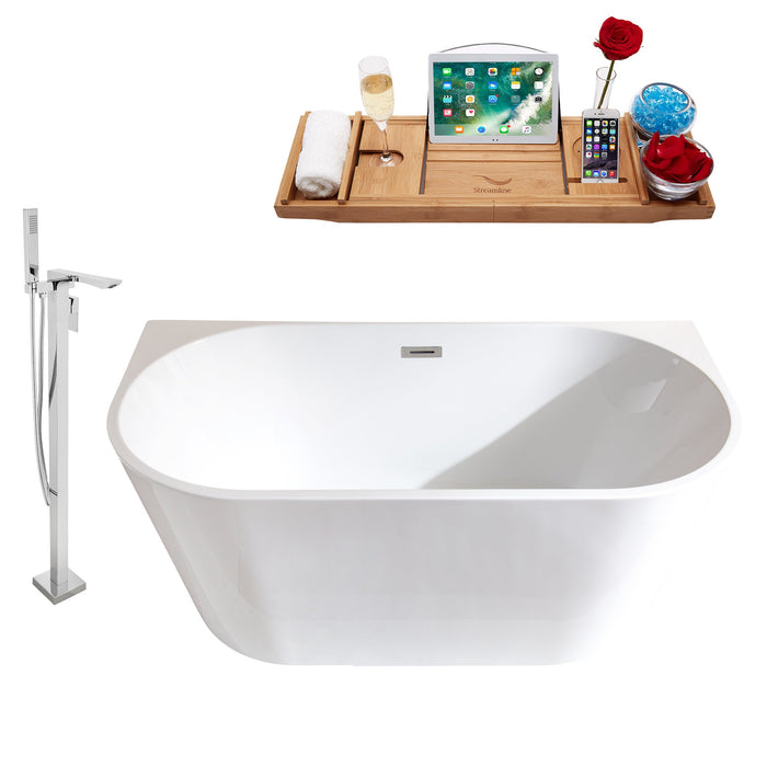 "Tub, Faucet and Tray Set Streamline 59"" Freestanding MH2420-140"
