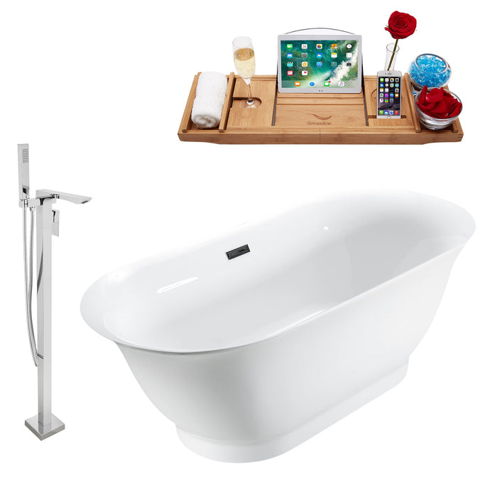 "Tub, Faucet and Tray Set Streamline 67"" Freestanding MH2440-140"