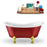 "62"" Streamline N1021GLD Clawfoot Tub and Tray With Internal Drain"