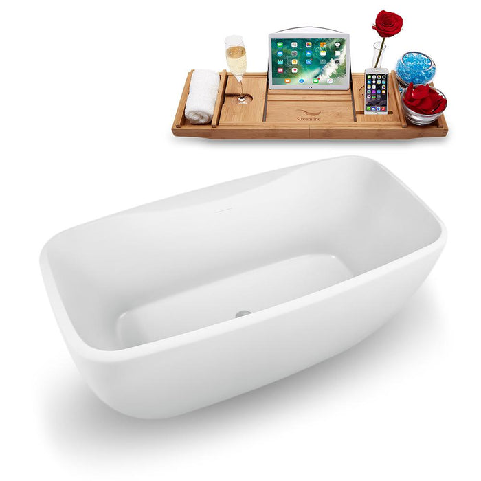 "59"" Streamline N1620CH Freestanding Tub and Tray with Internal Drain"