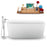 "59"" Streamline N1640BNK-100 Freestanding Tub and Tray with Internal Drain"