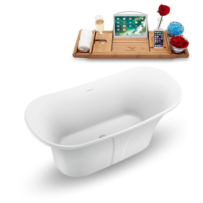 "59"" Streamline N1660CH Freestanding Tub and Tray with Internal Drain"