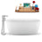 "59"" Streamline N1700CH-120 Freestanding Tub and Tray with Internal Drain"
