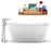 "59"" Streamline N1720WH-120 Freestanding Tub and Tray with Internal Drain"