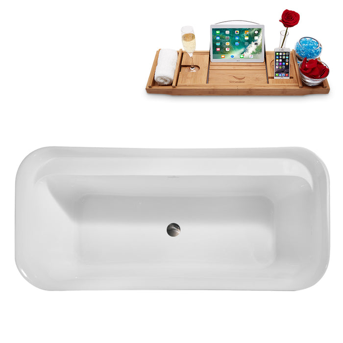 "67"" Streamline N1721BNK Freestanding Tub and Tray With Internal Drain"