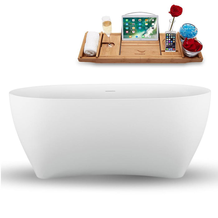 "59"" Streamline N1740ROB Freestanding Tub and Tray with Internal Drain"