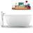 "59"" Streamline N1740WH-100 Freestanding Tub and Tray with Internal Drain"