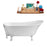 "55"" Streamline N343WH-CH Clawfoot Tub and Tray With External Drain"