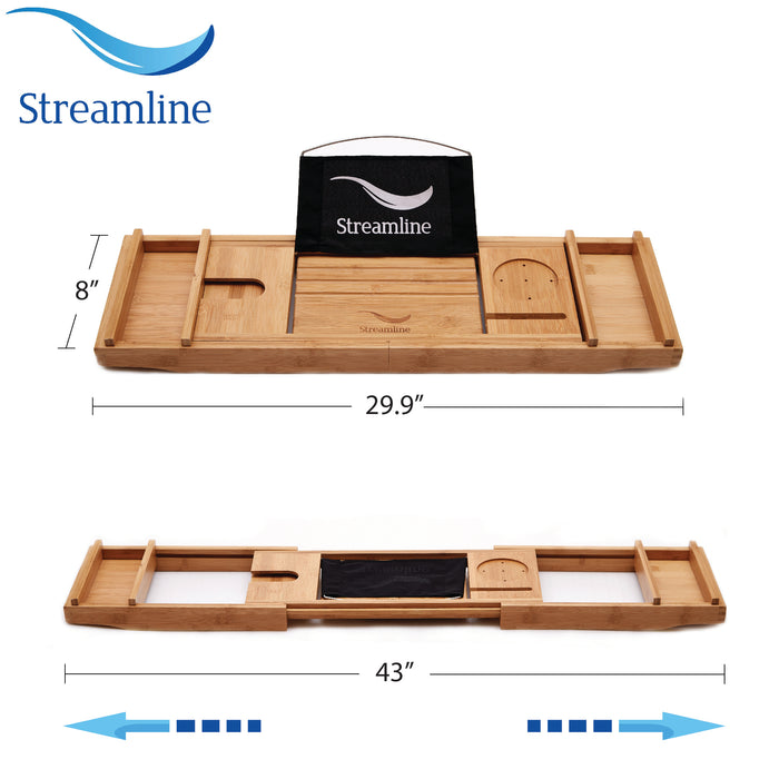 "55"" Streamline N346BL Clawfoot Tub and Tray With Internal Drain"