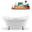 "68"" Streamline N901CH-CH Clawfoot Tub and Tray With External Drain"