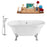 "Tub, Faucet and Tray Set Streamline 60"" Clawfoot NH100CH-CH-100"