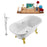 "Tub, Faucet and Tray Set Streamline 60"" Clawfoot NH100GLD-CH-140"