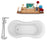 "Tub, Faucet and Tray Set Streamline 62"" Clawfoot NH1021BL-120"