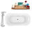 "Tub, Faucet and Tray Set Streamline 68"" Clawfoot NH103CH-CH-120"