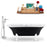 "Tub, Faucet and Tray Set Streamline 68"" Clawfoot NH103WH-CH-100"