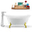 "Tub, Faucet and Tray Set Streamline 59"" Clawfoot NH1080GLD-120"