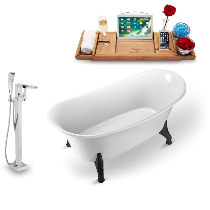 "Tub, Faucet and Tray Set Streamline 67"" Clawfoot NH1081BL-100"