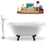 "Tub, Faucet and Tray Set Streamline 67"" Clawfoot NH1121BL-GLD-140"